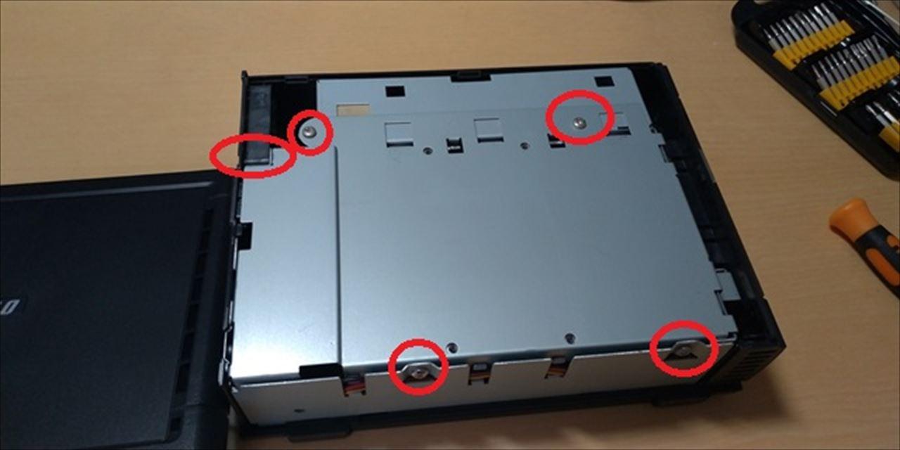 HS-GLのHDD交換とHS-DHGL化 - 車輪日記